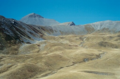 Fin d'été sur les alpages de Sadour (Mercantour, 2003, Mt Mounier).