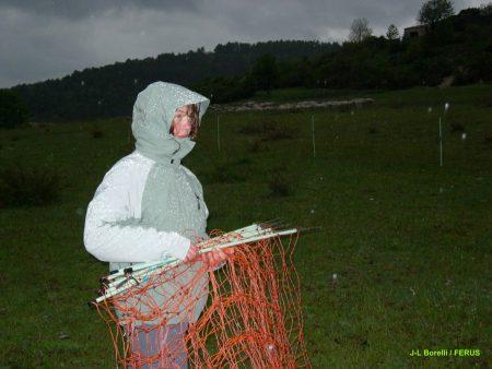 Adeline prépare le parc de nuit