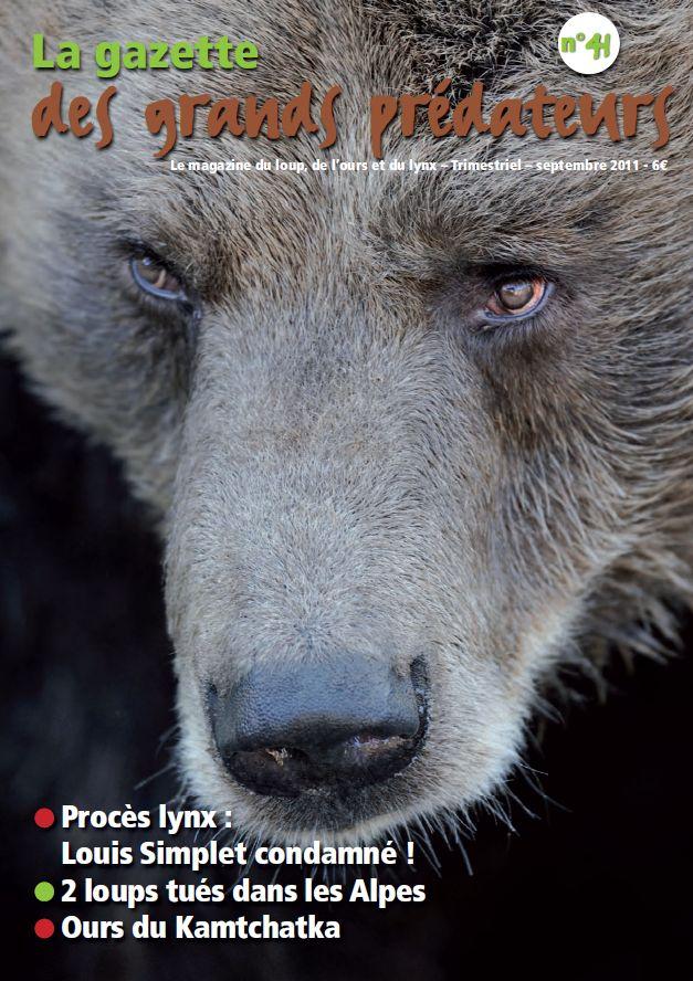 Gazette des grands prédateurs ferus