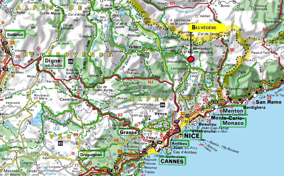 Carte Détaillée Alpes Maritimes | tonaartsenfotografie