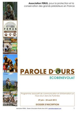 dossier inscription parole d'ours 2013