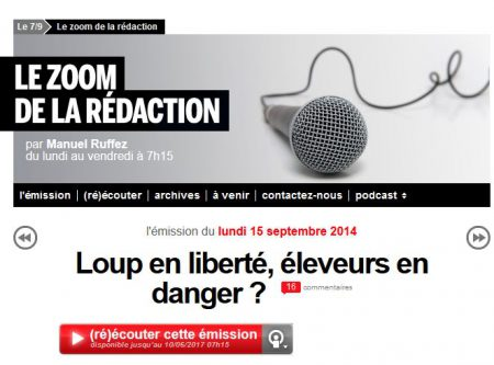 zoom france inter loup