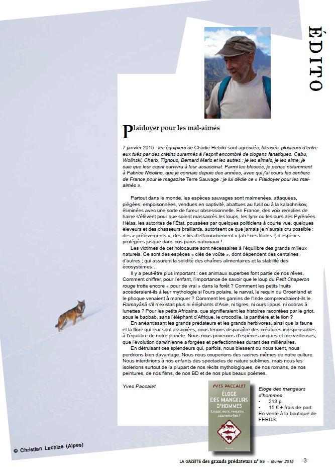 edito gazette grands prédateurs 55