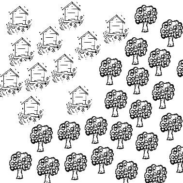 arbres et ruches