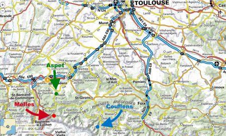 carte site ferus - localisation terrains Api'ours